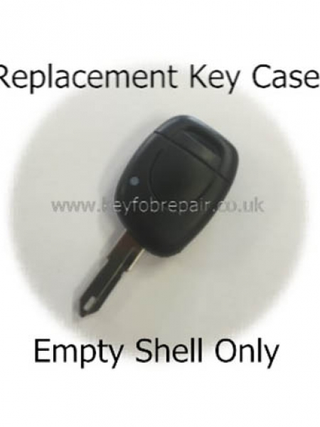 Renault Single Button Key Case And Blank NE17 Keyblade
